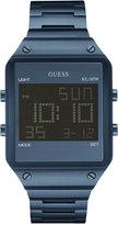 GUESS Men's Digital Blue Ion-Plated Stainless Steel Bracelet Watch 55x38mm U0596G4