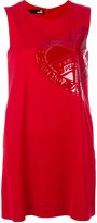 Love Moschino sleeveless branded heart dress