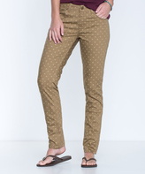 Honey Brown Polka Dot Lola Organic Cotton-Blend Skinny Jeans