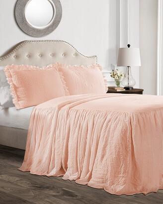 Triangle Home Fashion Fashions 3Pc Ruffle Skirt Full Bedspread Set