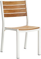 Janus et Cie Alu Side Chair, Teak/White