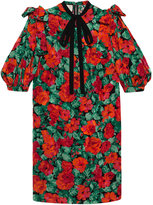 Gucci Poppy snake jacquard dress - women - Silk - 42