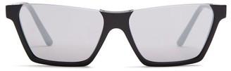 Celine Rectangular Acetate Sunglasses - Black