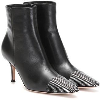 Gianvito Rossi Embellished leather ankle boots