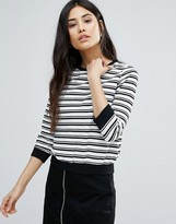 Girls On Film Monochrome Stripe Sweater
