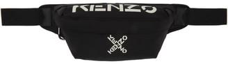 Kenzo Black Sport Logo Bum Bag
