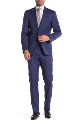 Tommy Hilfiger Blue Two Button Notch Lapel Classic Slim Fit Suit