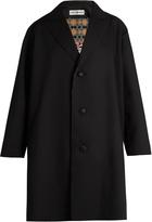 Issey Miyake Single-breasted gabardine coat