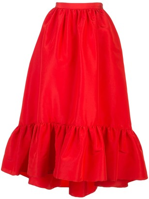 Adam Lippes Ruffled Hem Skirt