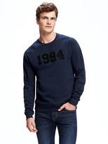Old Navy Classic Graphic Crew-Neck Sweatshirt for Men
