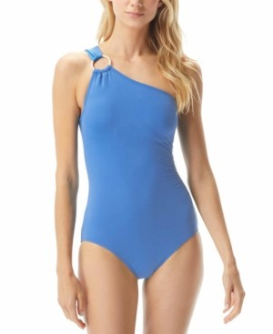 Michael Kors Michael Embellished One-Shoulder Underwire One-Piece Swimsuit Women's Swimsuit