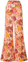 MSGM floral print flared trousers
