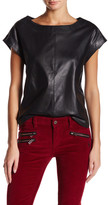 Zadig & Voltaire Tribu Cuir Genuine Leather Blouse