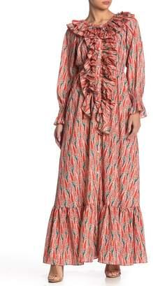 TOV Ruffle Neckline Dress