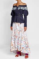 Peter Pilotto Cotton Bardot Blouse with Crochet