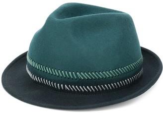 Paul Smith stitch stripe trilby hat