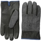 Original Penguin Woven Herringbone/Leather Glove