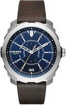 Diesel Men's Machinus NSBB Dark Brown Leather Strap Watch 46mm DZ1787