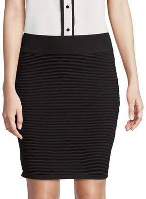 Saks Fifth Avenue BLACK Ribbed Mini Skirt