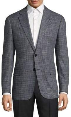 Giorgio Armani Textured Virgin Wool Blend Jacket