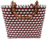 Neyuh Leather The Recycled Plastic Shopper Bag - Red With Bamboo