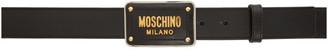 Moschino Black Logo Print Belt