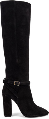 Saint Laurent Lou Harness Boots in Nero | FWRD