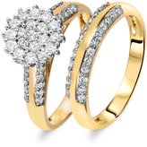 My Trio Rings 7/8 CT. T.W. Diamond Women's Bridal Wedding Ring Set 14K Yellow Gold