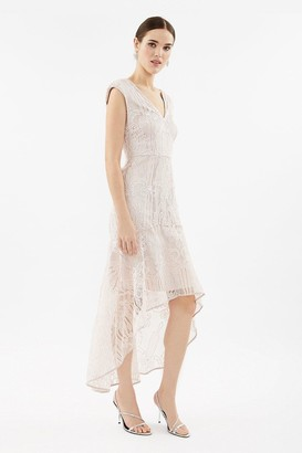 Coast Lace High Low Peplum Dress