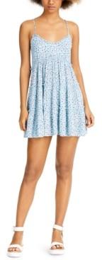 Sadie & Sage Ruffled Floral-Print Sleeveless Dress