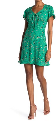 Collective Concepts Tie Front Short Sleeve Dress