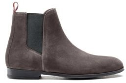 HUGO BOSS Suede Chelsea boots with contrast elastic side panels