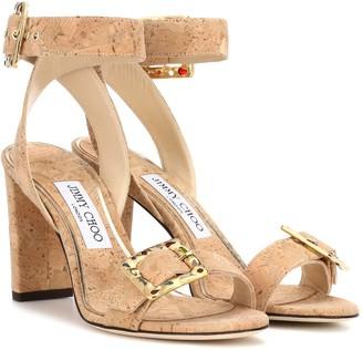 Jimmy Choo Dacha 85 cork sandals