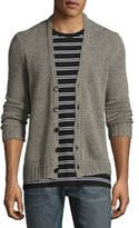 Maison Margiela Worn Wool Cardigan, Gray