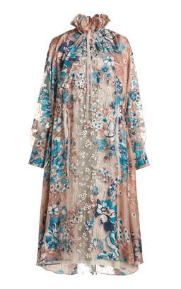 Biyan Lammar Floral Print Silk Dress