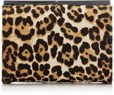 Jimmy Choo CATE Leopard Print Pony Clutch Bag