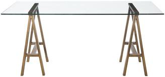 One Kings Lane Brady Desk - Brushed Brass - Large