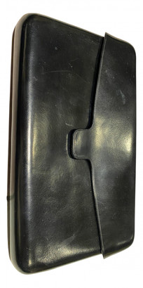 Lemaire Black Leather Clutch bags