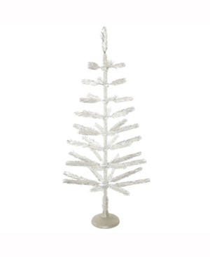 Vickerman 4' Silver Feather Artificial Christmas Tree Unlit