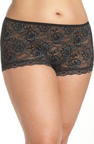 Hanky Panky 'Betty' Lace Boyshorts (Plus Size)