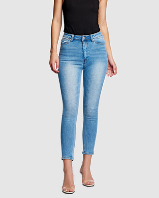 RES Denim Women's Blue Crop - Harrys Hi Skinny Crop Jeans - Size One Size, 25 at The Iconic