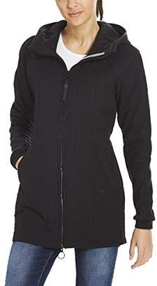 Bench Women's's Core Slim Material Mix Coat (Dark Grey Gy149)