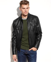 Kenneth Cole Reaction Coat, Faux Leather Jacket