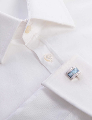 Tateossian Etched D shape cufflinks