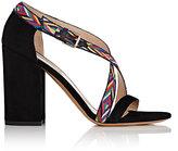 Valentino Women's Native Suede Sandals-BLACK