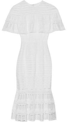 Lela Rose Cape-effect Guipure Lace Midi Dress