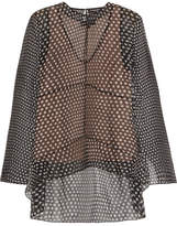 Narciso Rodriguez Polka-dot Silk-chiffon Blouse - Black