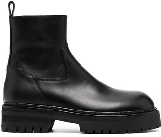 Ann Demeulemeester Flat Leather Ankle Boots