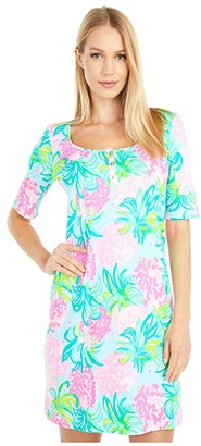 Lilly Pulitzer Gavyn Dress (Blue Ibiza Pineapple Shake) Women's Dress