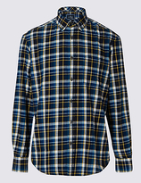 Blue Harbour Long Sleeve Brushed Flannel Shirt
